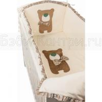 Комплект в кроватку 6 пр. Makkaroni Kids Toy Teddy