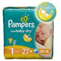 Подгузники Pampers New Baby Newborn 2-5 кг. 27 шт. (1)