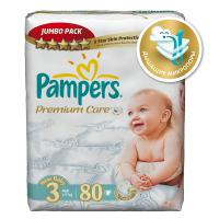 Подгузники Pampers Premium Care 4-9 кг. 80 шт. (3)