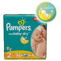 Подгузники Pampers New Baby 3-6 кг. 94 шт. (2)