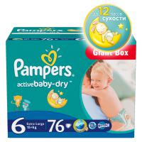 Подгузники Pampers Active Baby 15+ кг. 76 шт. (6)